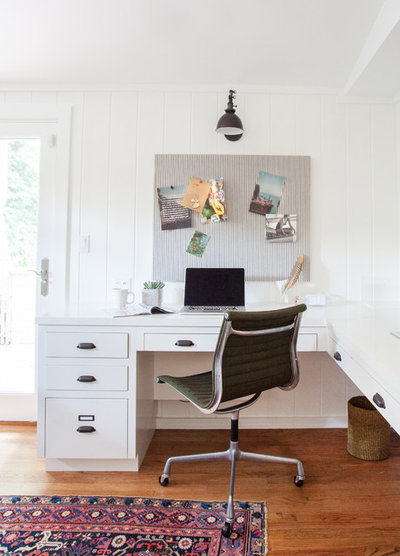 Eclectic Home Office by Amber Interiors