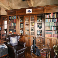 Traditional Home Office by Walker Woodworking