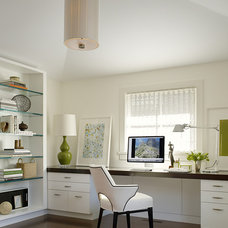 Transitional Home Office by Angela Free Design