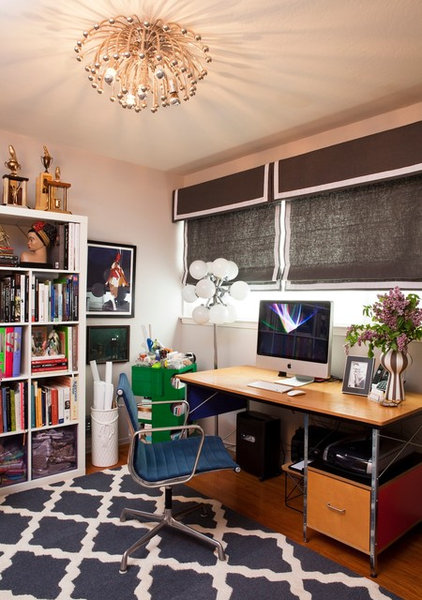 Eclectic Home Office by Janel Holiday Interior Design