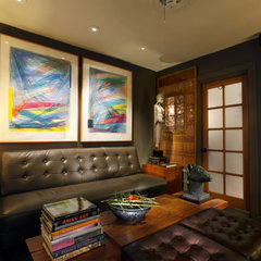 eclectic home office by Randall Whitehead Lighting Solutions