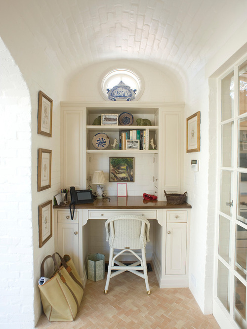 Beach style home office design ideas remodels photos for Home office style