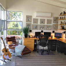 Eclectic Home Office Santa Barbara Modern