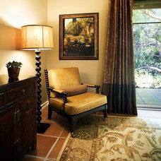 Mediterranean Home Office by M. Roy Interior Design