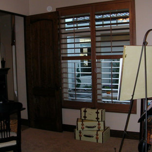 Example of a tuscan home office design in Salt Lake City