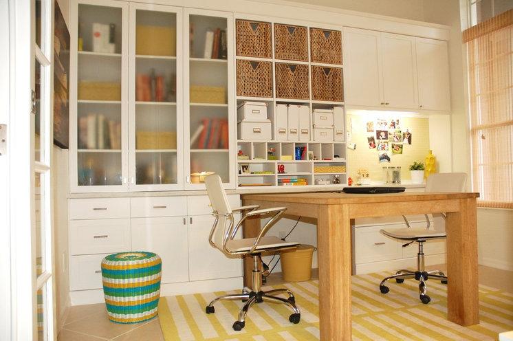 Contemporary Home Office by Angela Ruple Interior Design