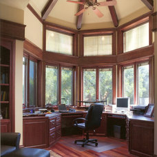 Traditional Home Office by Louie Leu Architect, Inc.