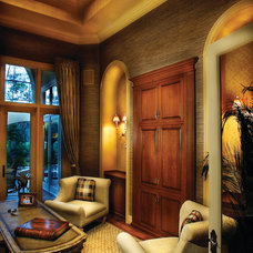 Mediterranean Home Office by Sater Design Collection, Inc.