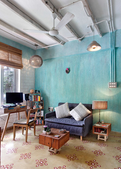 Industrial Home Office by Mrigank Sharma Photography