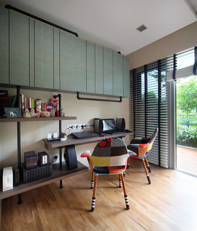 Eclectic Home Office & Library by Yonder
