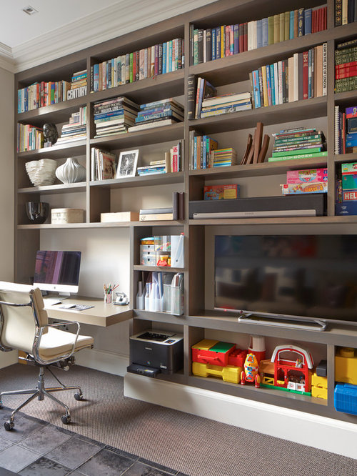 large home office and library design ideas renovations photos