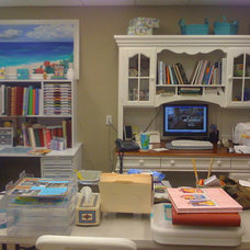 Contemporary Home Office Scrapbook room