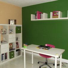 Eclectic Home Office Scrapbooking room