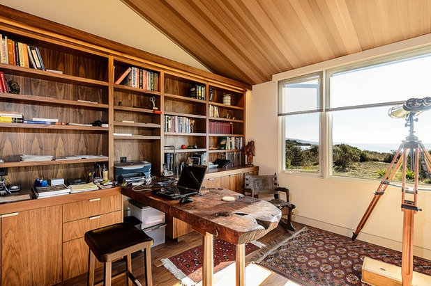 Midcentury Home Office by Hudson Street Design