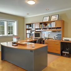 Craftsman Home Office by Seattle Staged to Sell and Design LLC