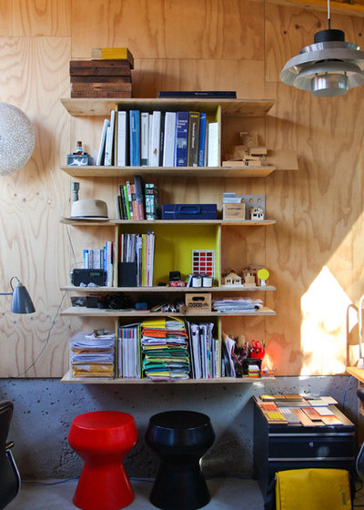 Industrial Home Office by Sushiiphoto