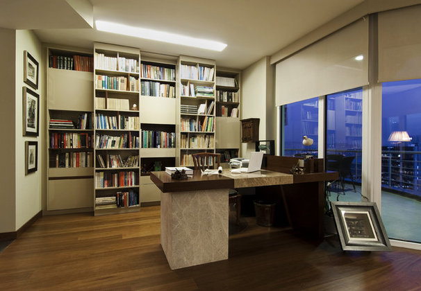 Contemporary Home Office by Neslihan Pekcan/Pebbledesign