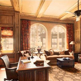 アトランタの地中海スタイルのおしゃれなホームオフィス・書斎の写真