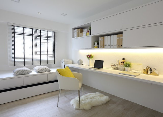 Scandinavian Home Office by Arte Living Design Studio Pte Ltd