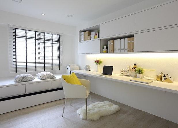 Scandinavian Home Office & Library by Arte Living Design Studio Pte Ltd