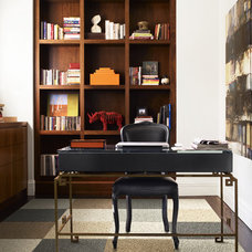 Traditional Home Office by FLOR