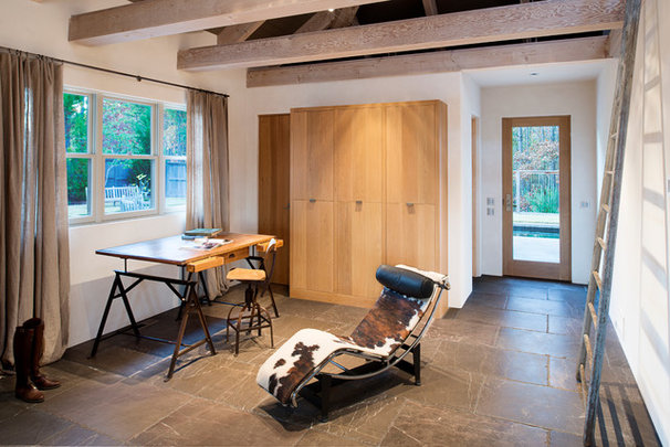 Contemporary Home Office by Moon Bros Inc