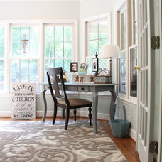 Eclectic Home Office by Unskinny Boppy
