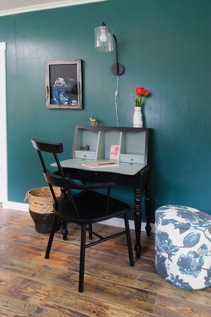 eclectic home office by Sarah Phipps Design
