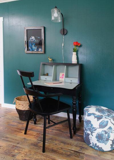 エクレクティック ホームオフィス・仕事部屋 by Sarah Phipps Design