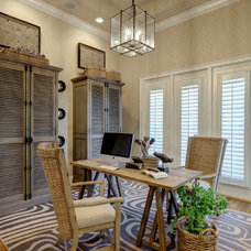 Transitional Home Office by LAURA MILLER, ASID, NCIDQ: INTERIOR DESIGN