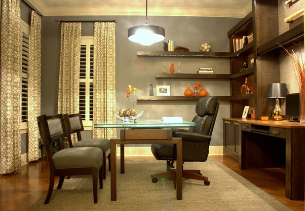 Contemporary Home Office by IN Studio & Co. Interiors