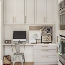 Transitional Home Office by Sophie Burke Design