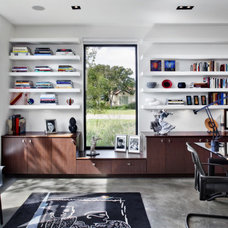 Contemporary Home Office by McKinney York Architects
