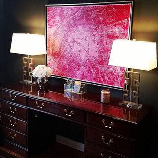 デトロイトのトランジショナルスタイルのおしゃれなホームオフィス・仕事部屋の写真