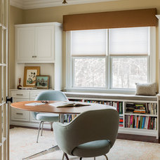 Transitional Home Office by Eleven Interiors