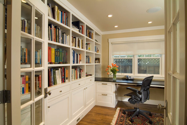Traditional Home Office by FGY Architects