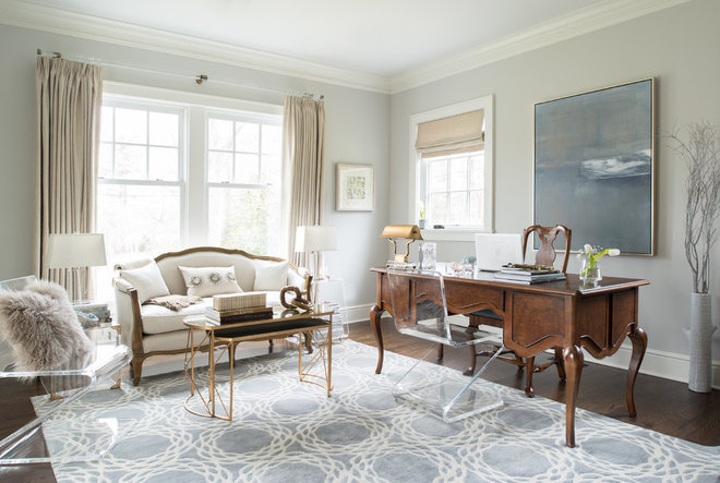Traditional Home Office by Dalia Canora Design, LLC