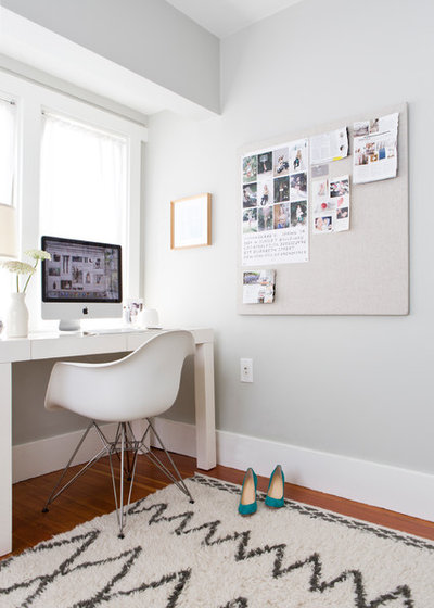 Transitional Home Office by Vivian Johnson Photography