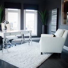 Contemporary Home Office by Fresco Interiors Design Group Inc