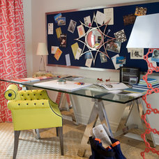 Eclectic Home Office by amanda nisbet