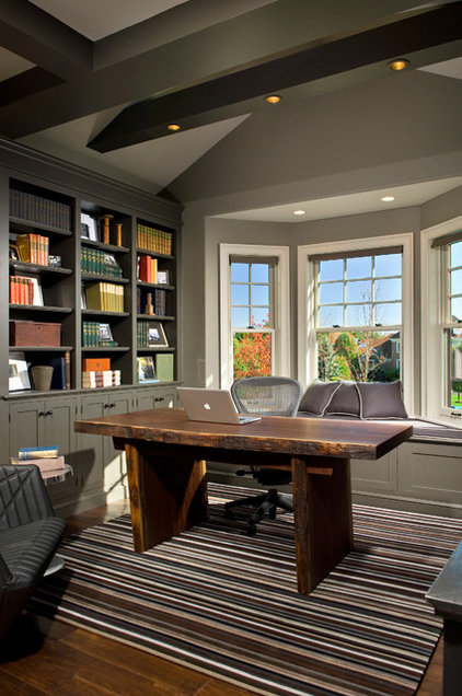 Transitional Home Office by Witt Construction