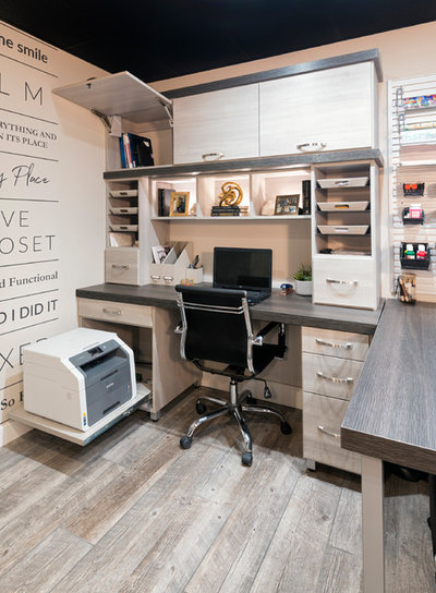 Transitional Home Office & Library by Inspired Closets by Tom