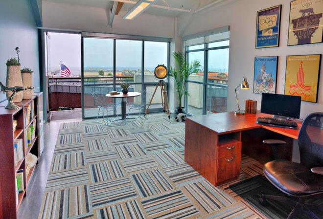 Beach Style Home Office by Shryne Design