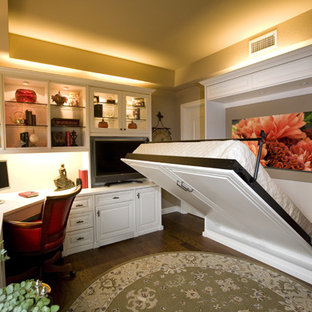 Siena Collection White Home Office With Wall Bed by Valet Custom Cabinets & Clos