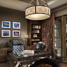 Contemporary Home Office by Simpson Design Associates, LLC