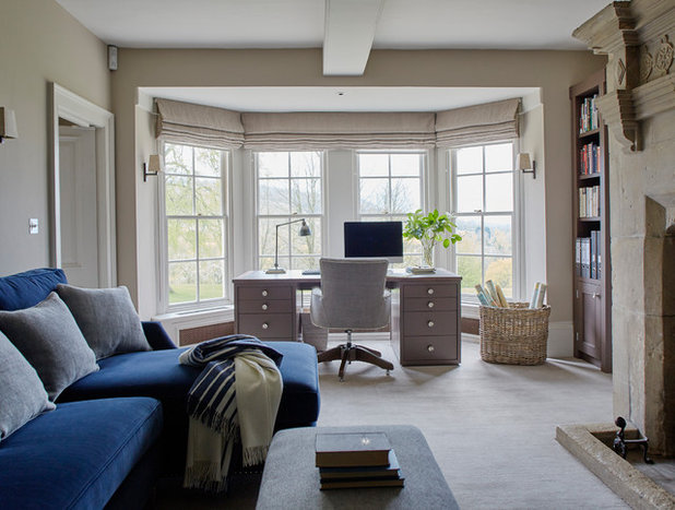 Traditional Home Office by Sims Hilditch