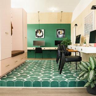 オースティンの北欧スタイルのおしゃれなホームオフィス・書斎の写真