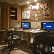 Traditional Home Office by Project Partners Design