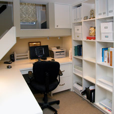 Transitional Home Office by Walden Homes