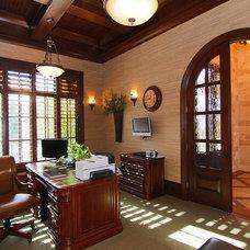 Mediterranean Home Office by Custom Finish Supply Company, Inc.